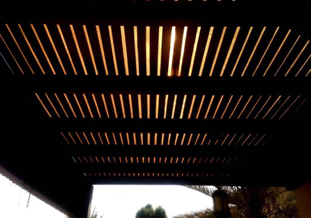 Pergola sun shade cloth cover